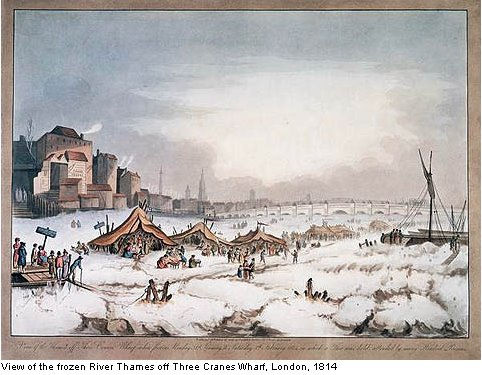 The Frost Fair on the Thames