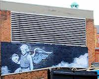 Banksy's Bullet Proof Cherub