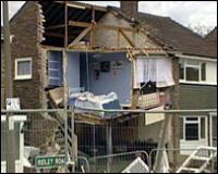 Houses Collapsed into Hole